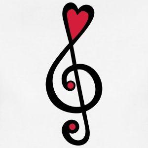 Musik Herz Noten Klassik Notenschlussel Violine T Shirts Frauen Premium T Shirt Musiknoten Kunst Violine Musik Illustration