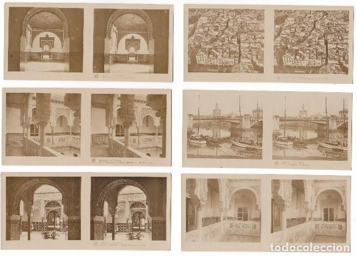 Lote 15 fotografia estereoscopica sevilla turismo practico 2ª serie completa #preguntassevilla