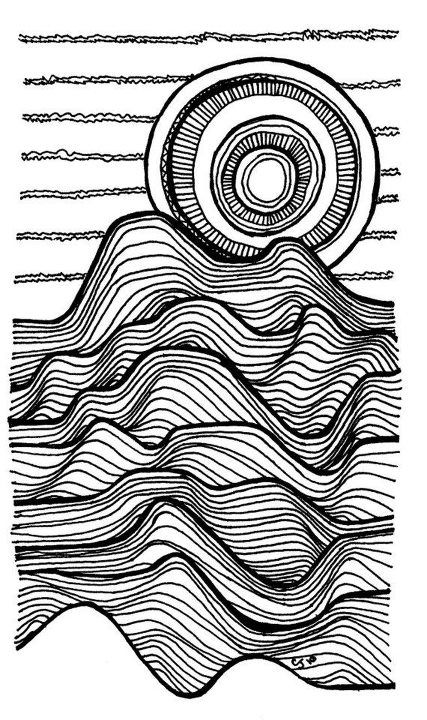 Texture Line Art : Line drawings differing thickness adds depth and texture