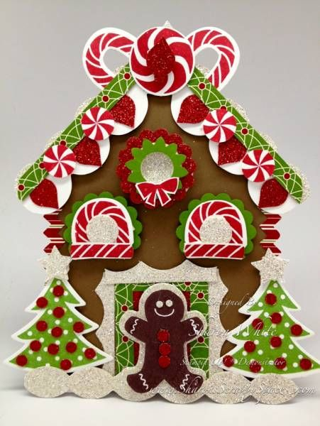 Gingerbread House Punch Art Card by shargod - Cards and Paper Crafts at Splitcoaststampers
