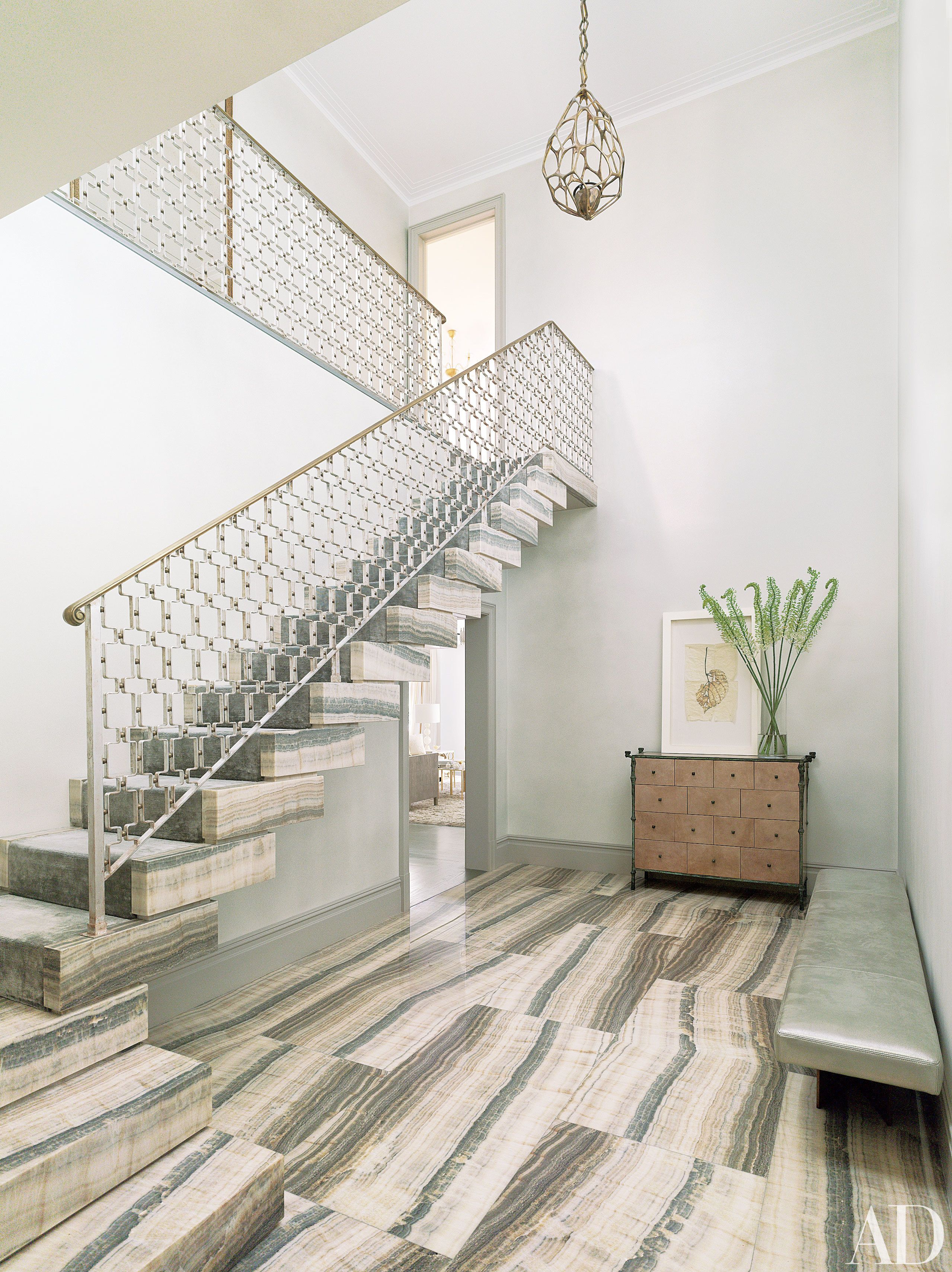 19 Gorgeous Rooms With Double Height Ceilings New York Apartment Architectural Digest Stairs