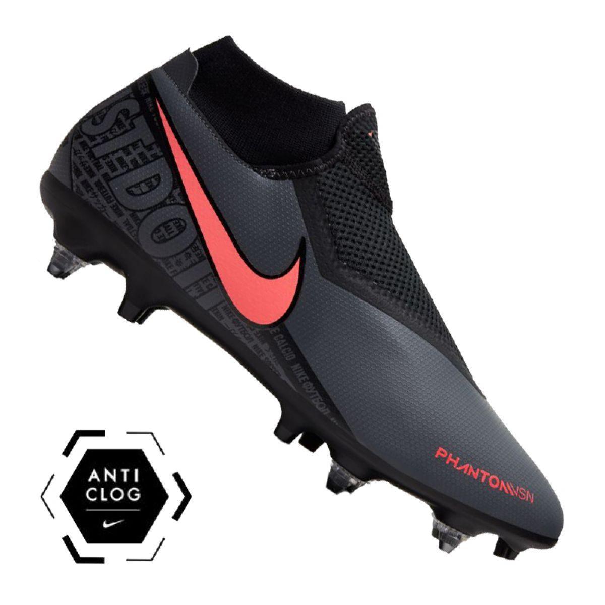 Corks Football Sport Nike Nike Phantom Vsn Academy Df Sg Pro Ac M Bq8845 080 Football Shoes Black Chuteiras