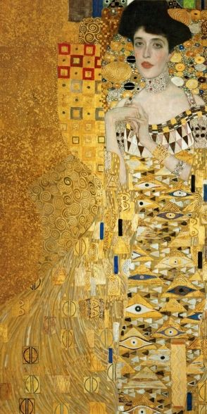 Gustav Klimt: Adele Bloch-Bauer, 1907. I believe there was a romance between artist and subject...