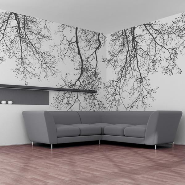 名の通りシックでモダンなデザインの木々の陰影モチーフデザイン