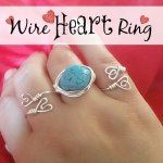 Wire Heart Rings | My Pinterventures - Featured at #HomeMattersParty #22