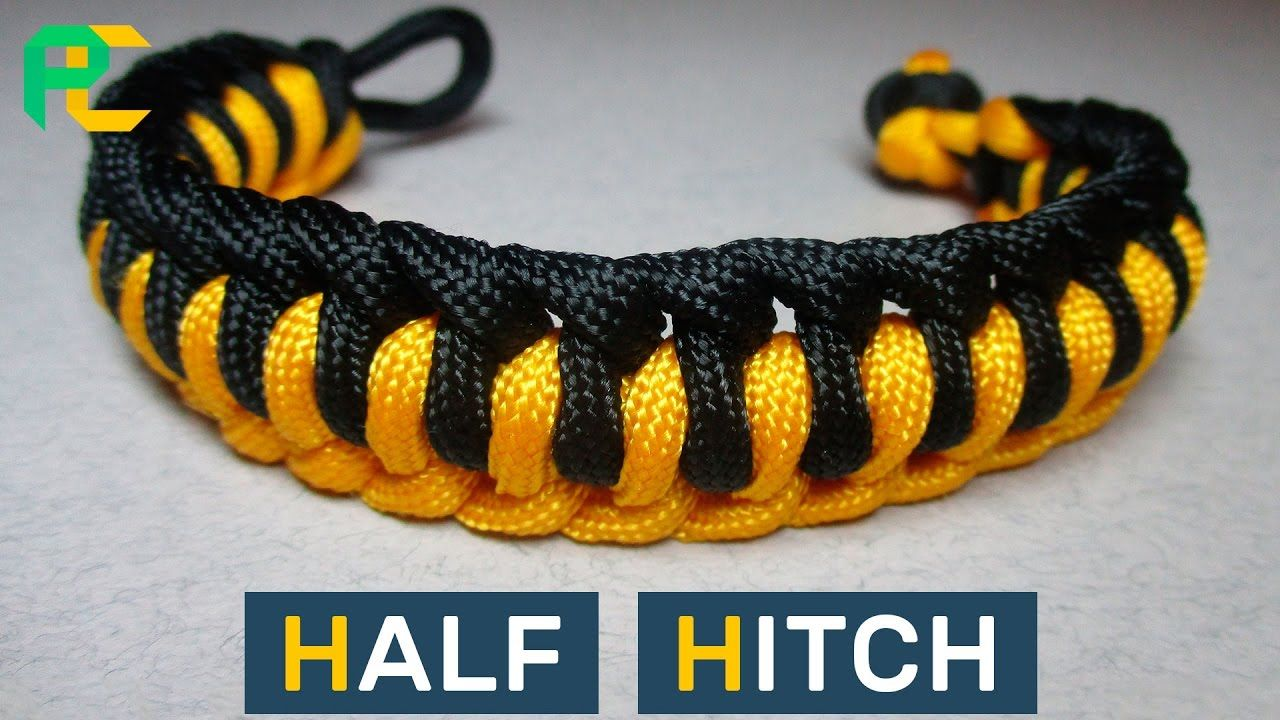 Half Hitch Paracord Bracelet Without Buckle Make Your Own