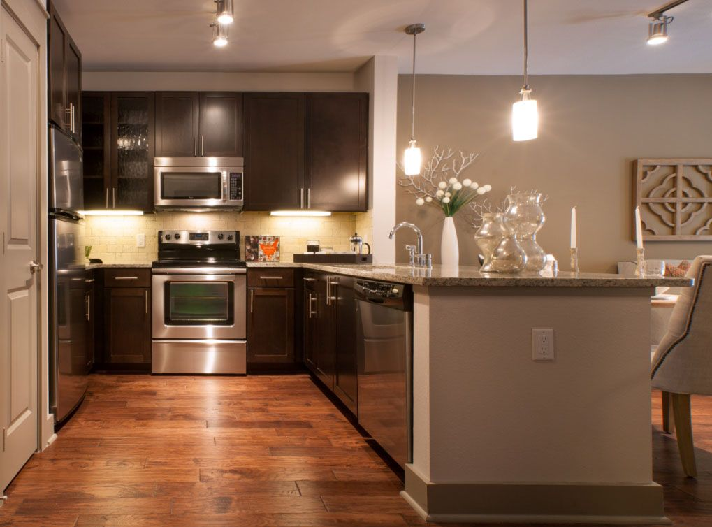 Model Kitchen At Amli Ponce Park A Luxury Apartment