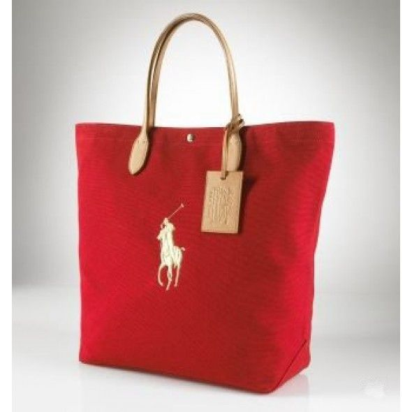 d24c3c9ab7e Ralph Lauren Pony Slim Handbag Red Canvas ! 43.57   Have bag will carry
