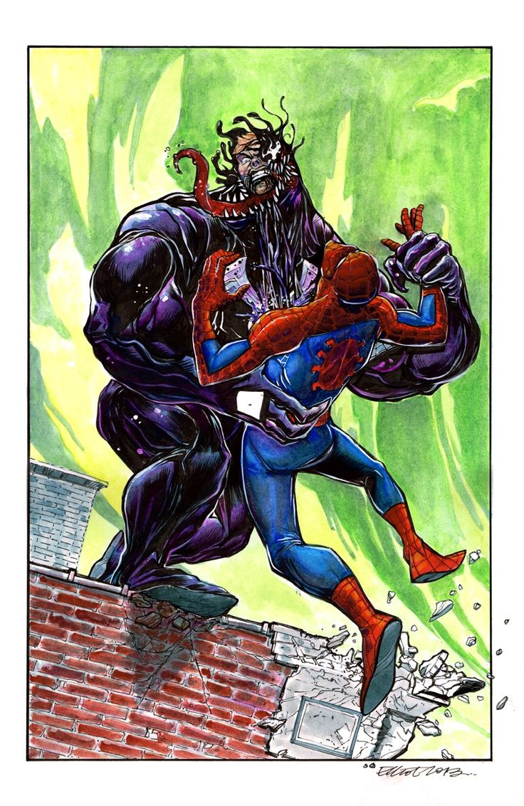 #Spiderman #Fan #Art. (Spider-Man Vs. Venom) By: Elliot Fernadez. (THE * 5 * STÅR * ÅWARD * OF: * AW YEAH, IT'S MAJOR ÅWESOMENESS!!!™) ÅÅÅ+