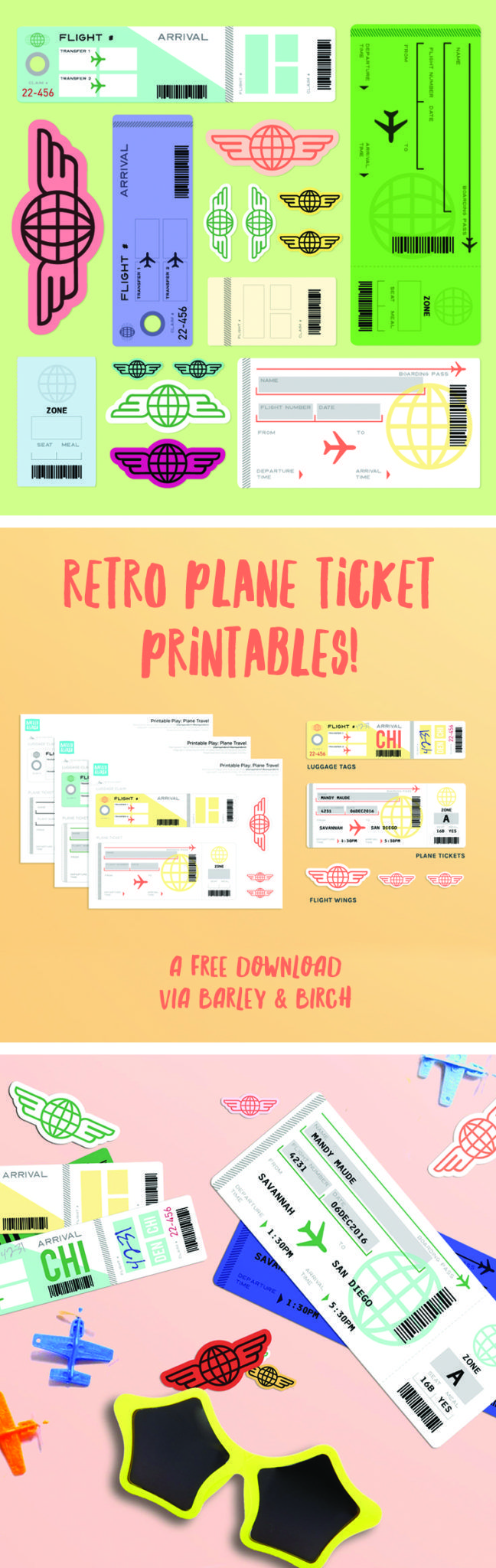 graphic about Free Printable Pretend Disney Tickets called Freebie: Airplane Getaway Printable Enjoy MT Brands Nearby