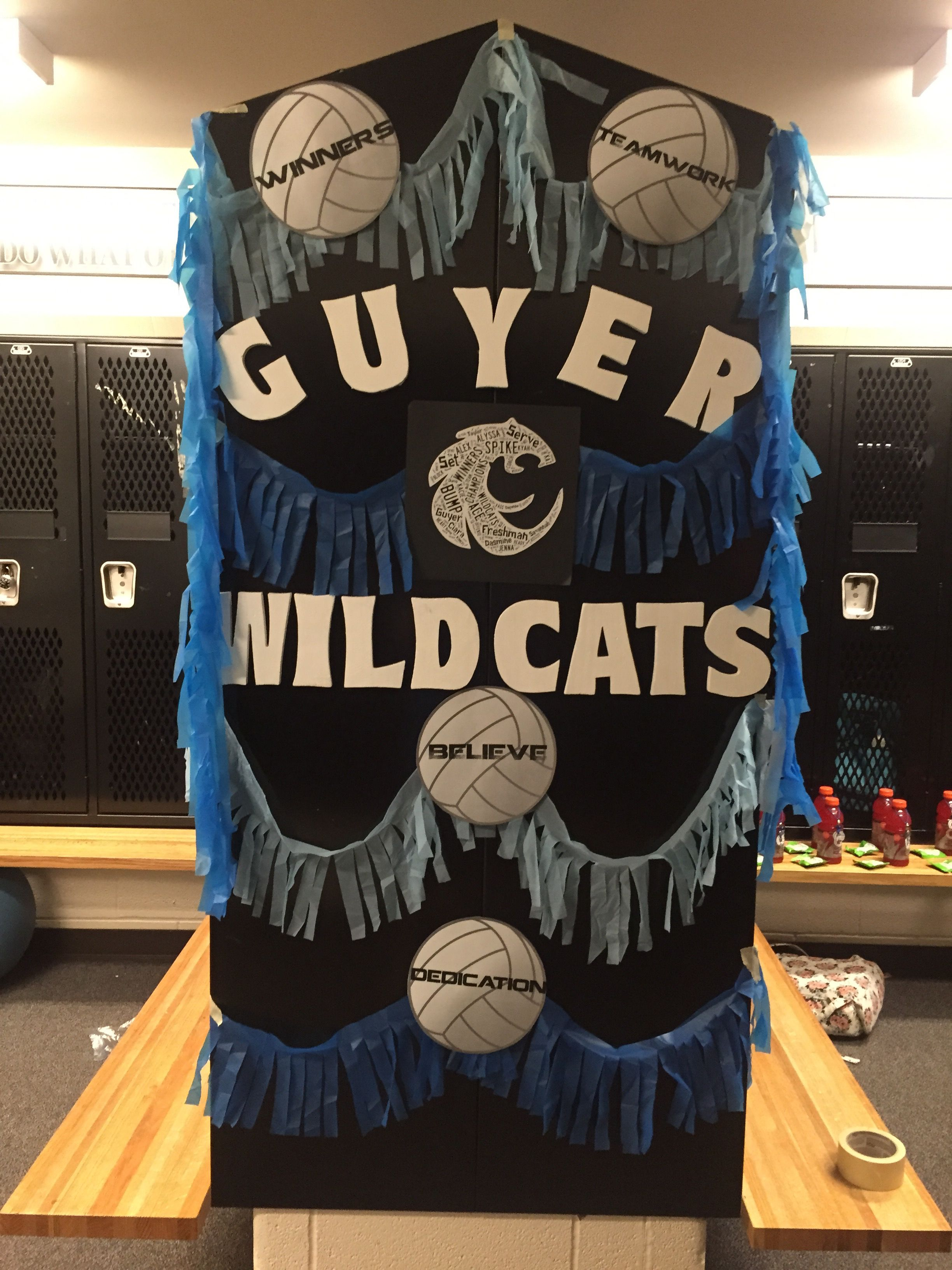 volleyball spirit locker room decorations. just printed out the