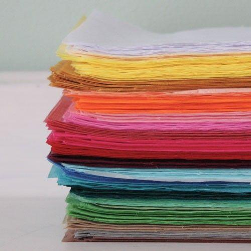 Zijdevloei Papier - 24 kleuren
