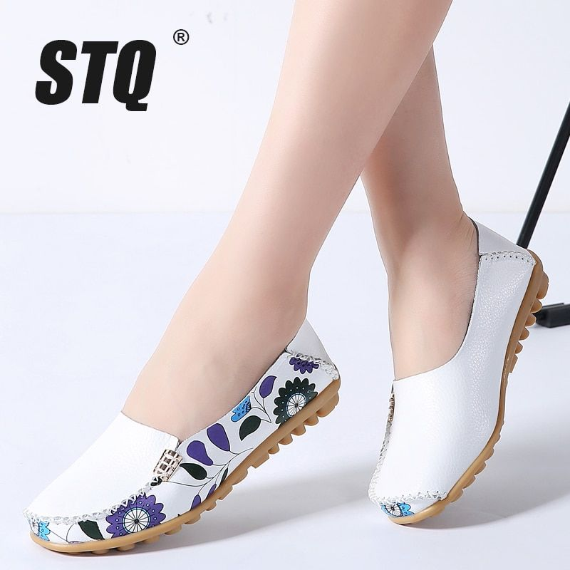 c8f83024c5a0 STQ 2018 Autumn women flats genuine leather shoes slip on ballet flats  women flats print woman Price  25.00   FREE Shipping  fashion  style   stylish  love ...