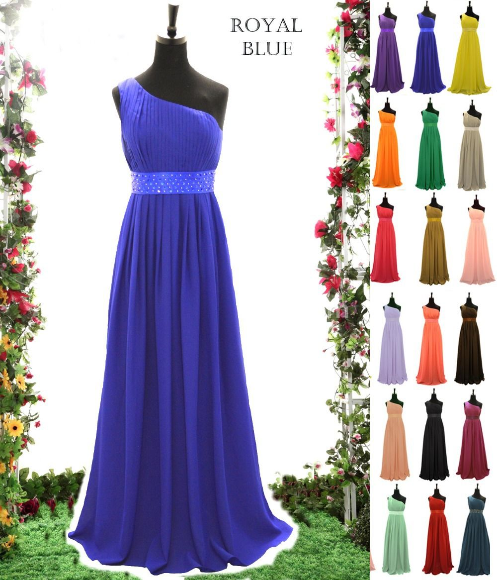 ZJ0029 royal blue baby pink chiffon peach color country style ...