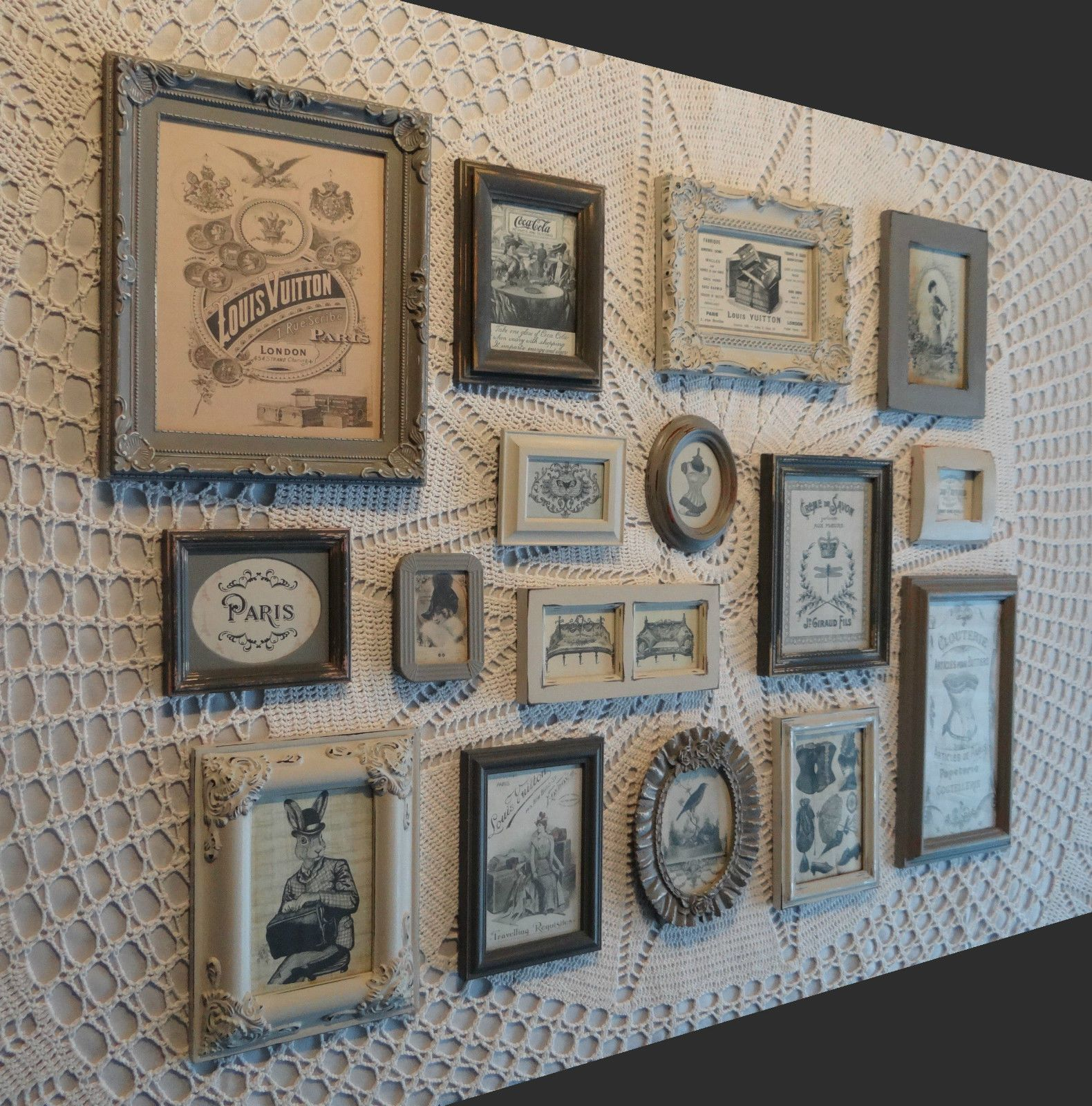 French Vintage Retro Shabby Chic Photo Picture Frame Grey Collection