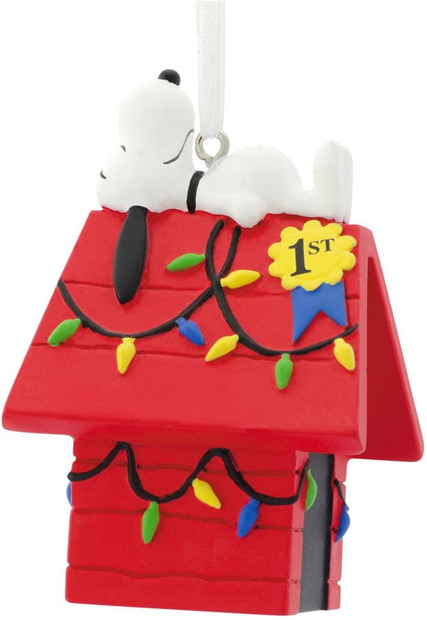 Hallmark Resin Figural Snoopy Decorated Ornament Snoopy