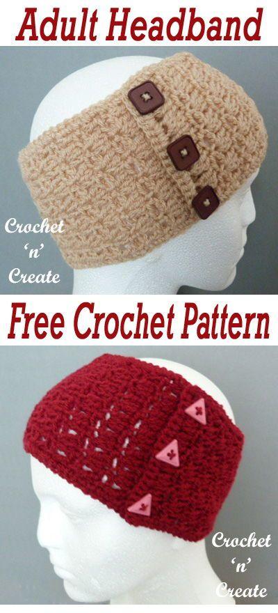Adult Headband Free Crochet Pattern | CrochetHolic - HilariaFina ...
