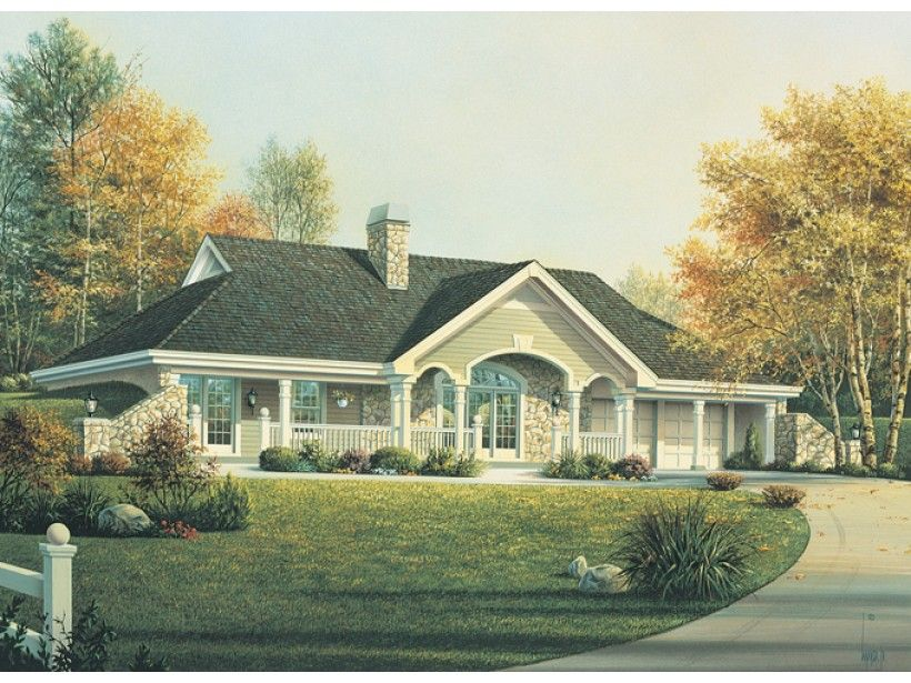 ePlans Country House Plan – Earth Berm Home with Style– 1480 ...