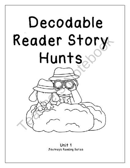 Journeys Unit 1 Decodable Reader Story Hunts from Firsties