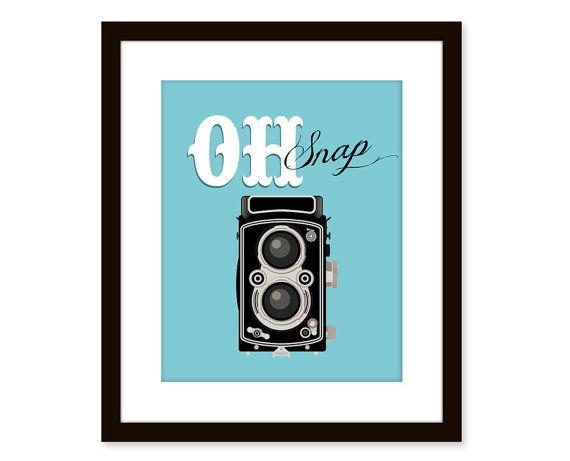 Retro artvintage camera printtypographic art by etchedandsketched, $14.00