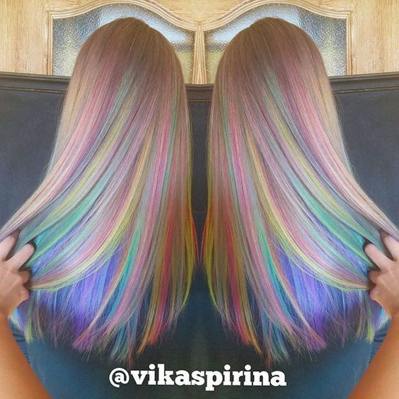 6 Wild Hair Colors To Try Out Rainbow Hair Hair Coloring And Rainbows
