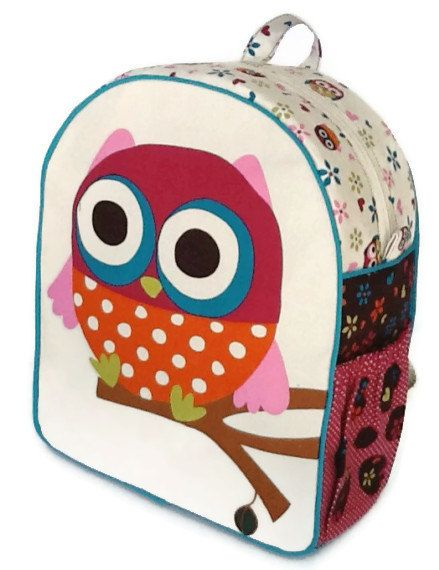 Girls Backpack, Toddler Backpack, Preschool Backpack, Owl Backpack ...