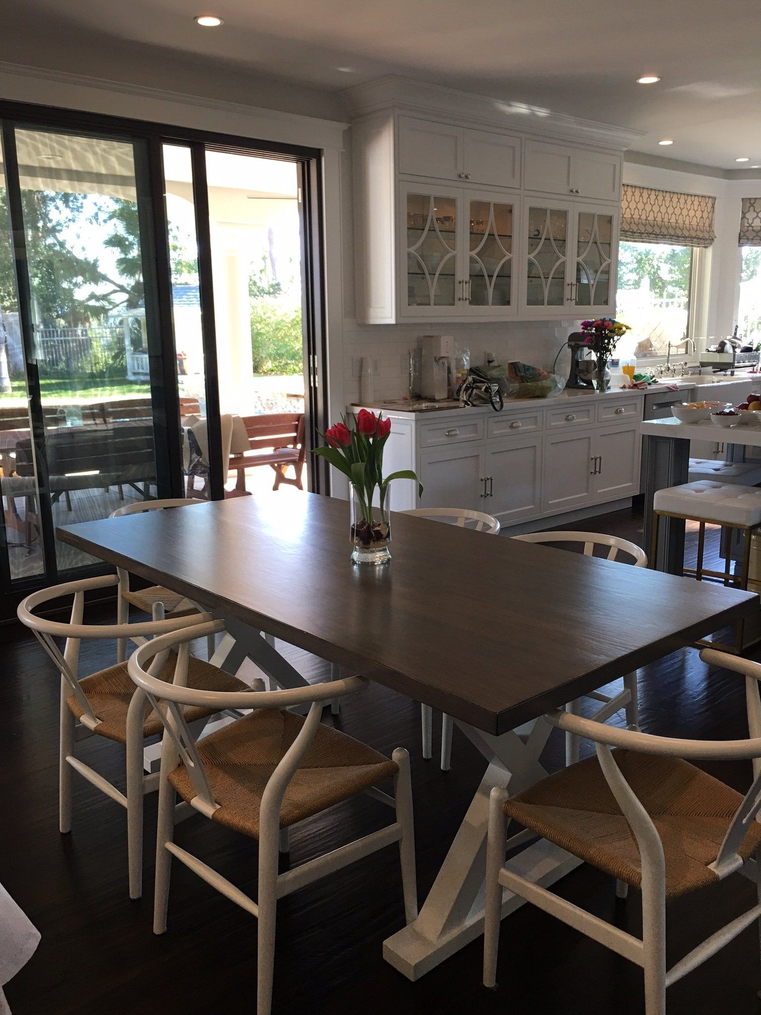 White Oak X Base Dining Table Kitchen Room Design White Kitchen