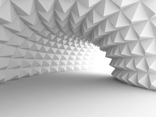 Abstract Architecture Tunnel With Light Background 3d Wallpaper