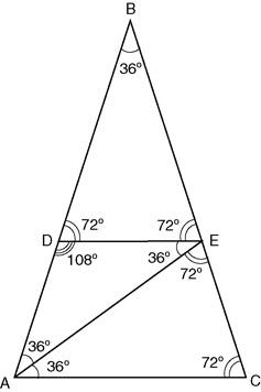 how to create a golden spiral with a golden triangle