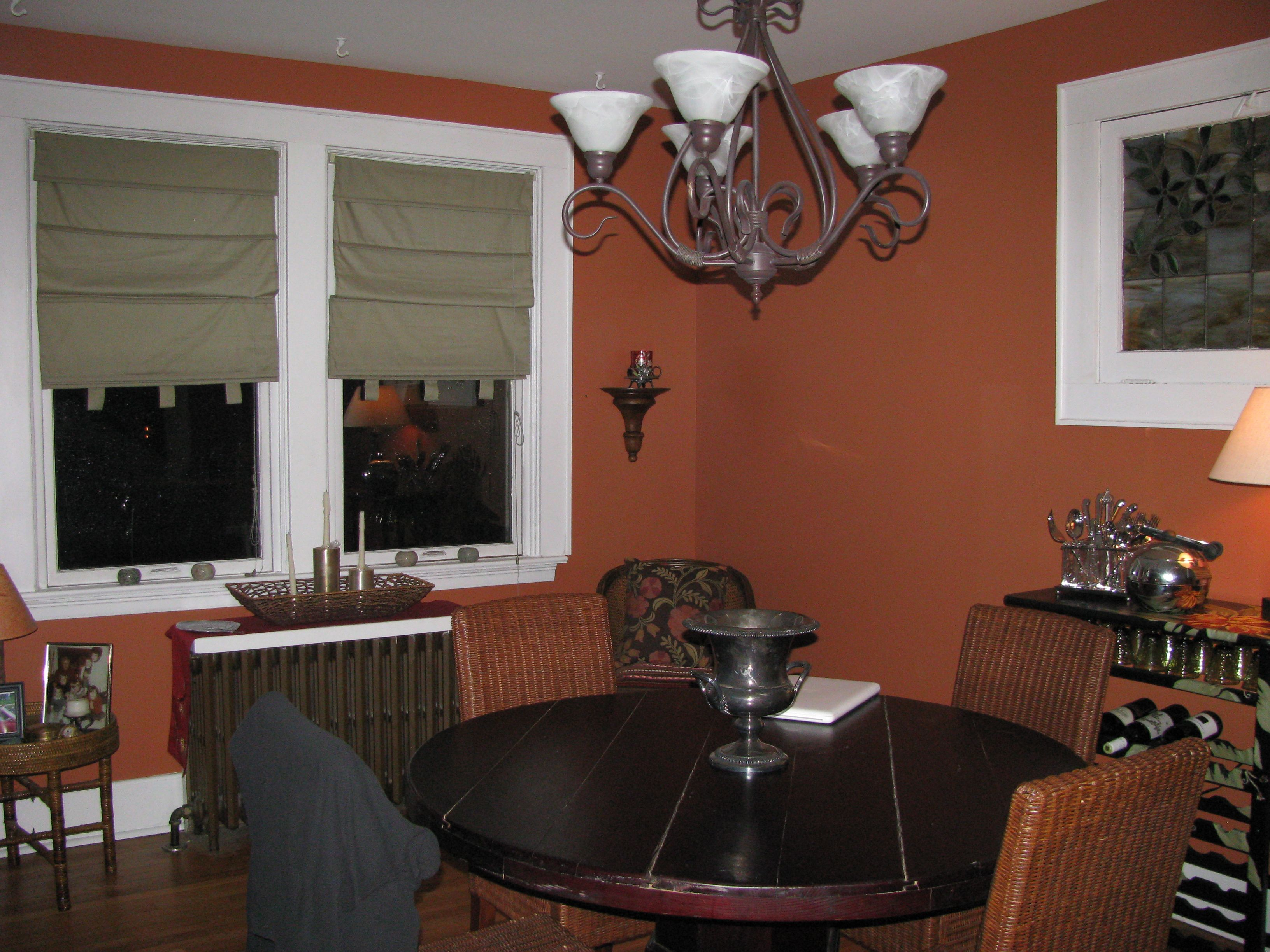 Finally Painted The Dining Room A Burnt Orange Colornow To Prepossessing Color Dining Room Design Decoration