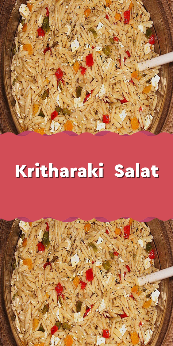 Photo of Kritharaki Salad – Ingredients 500 g Pasta Greek (Krithara … – #kritharakisala …