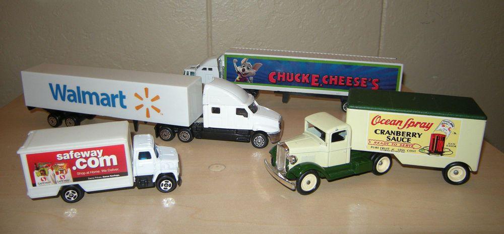 4 semi tractor trailer delivery toy trucks safeway walmart ocean rh pinterest com