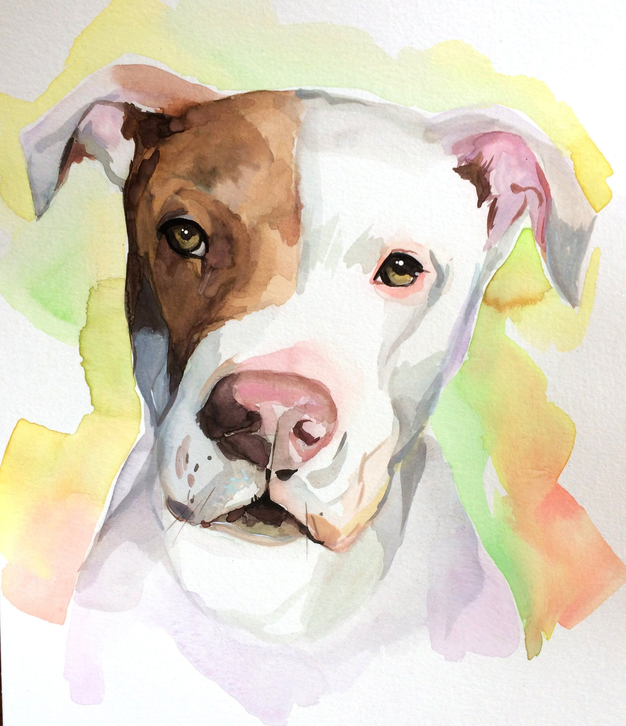 Dog Lover Gift Pet Portrait Custom Dog Portrait Watercolor Pet