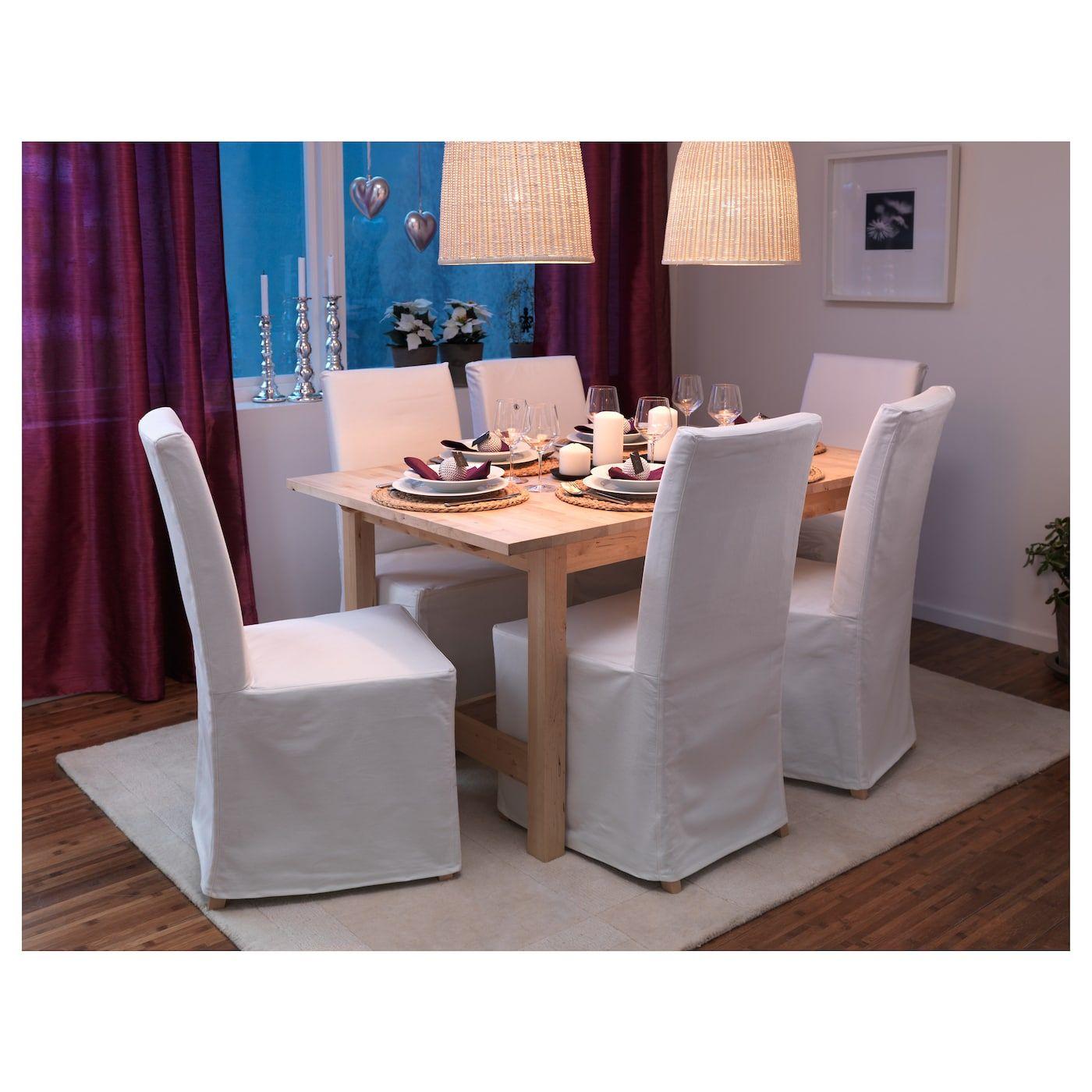 IKEA NORDEN Birch Extendable table Extendable dining
