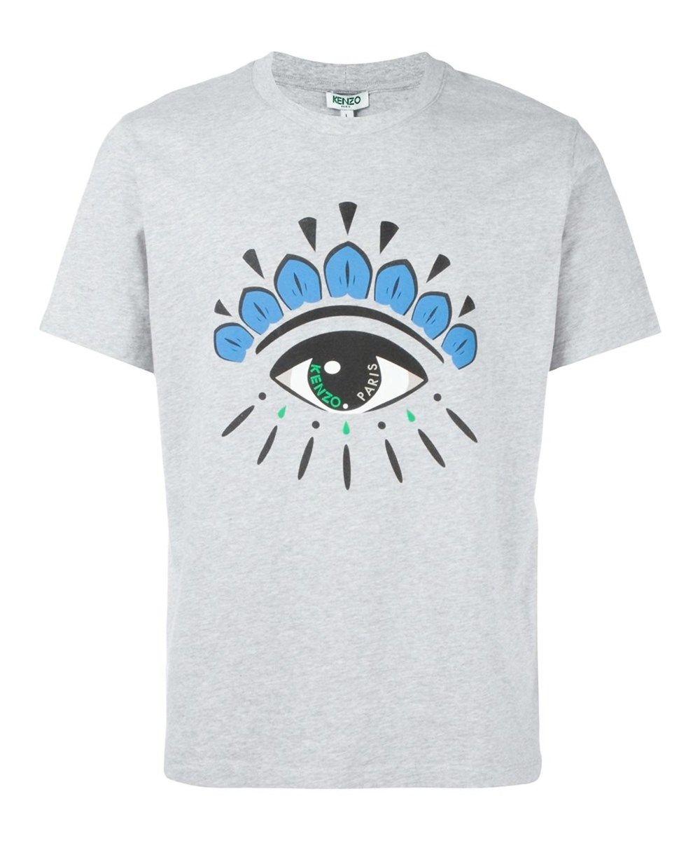 184860dc56a5 KENZO Kenzo Men'S F755Ts0494Yc93 Grey Cotton T-Shirt'. #kenzo #cloth #t- shirts
