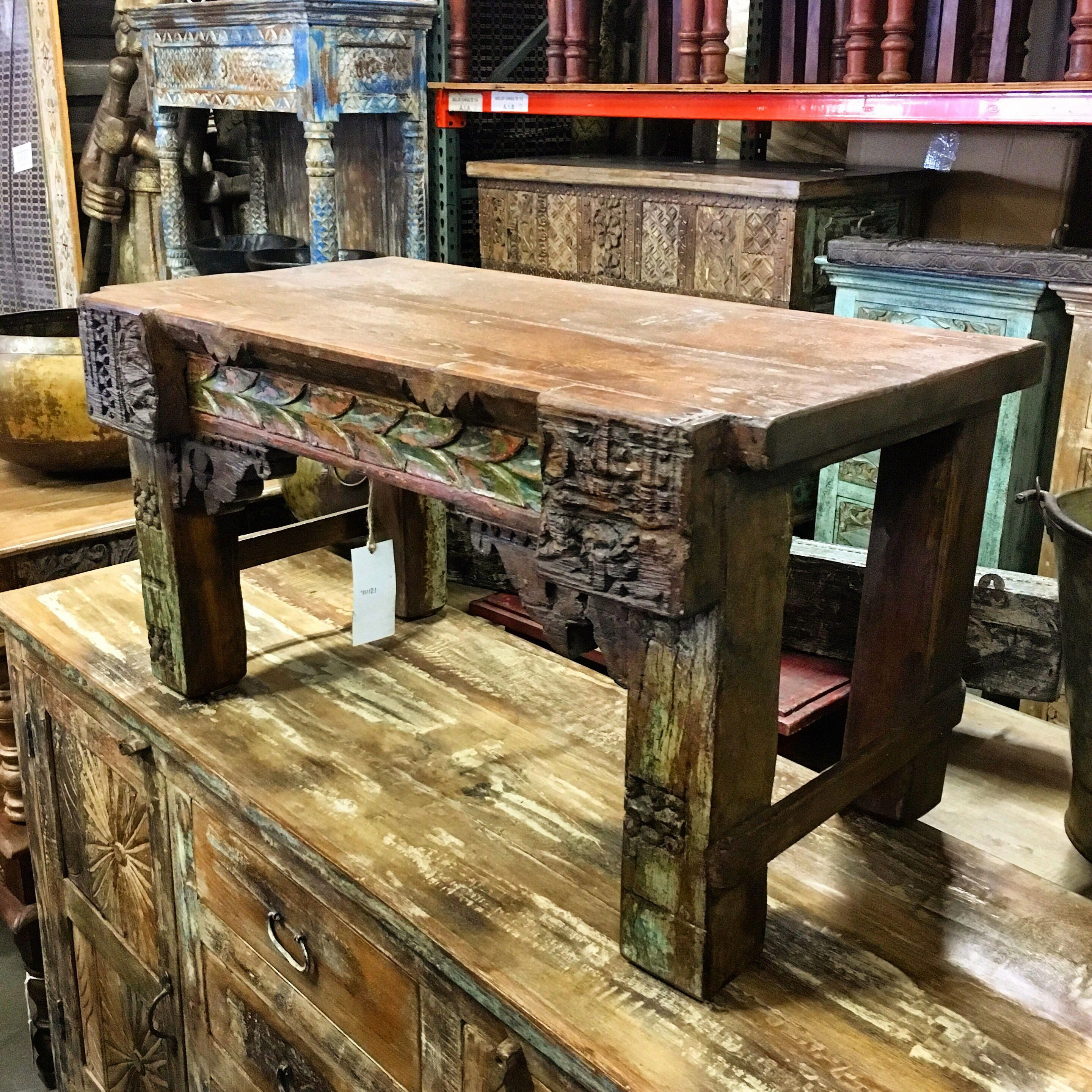 Short Reclaimed Wooden Backless Bench Item 712121 Measures 34x18x18