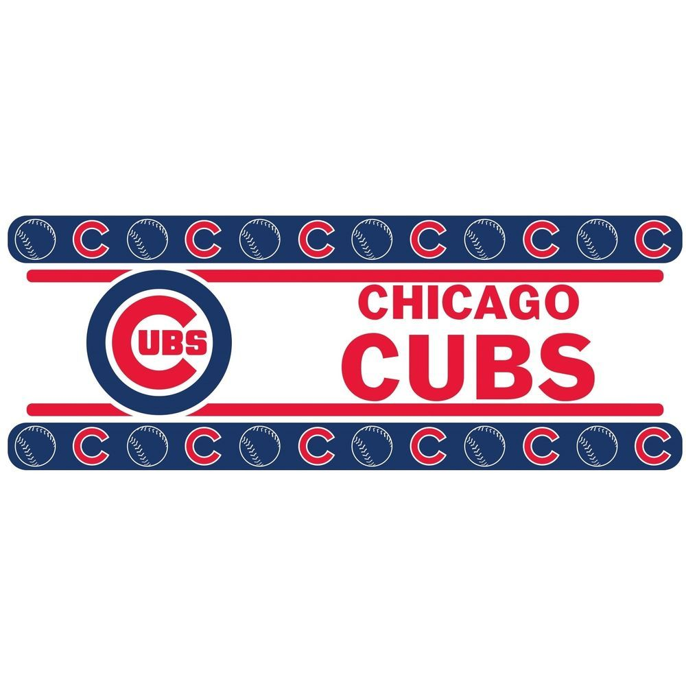 Chicago Cubs MLB Peel And Stick Wall Border Decor