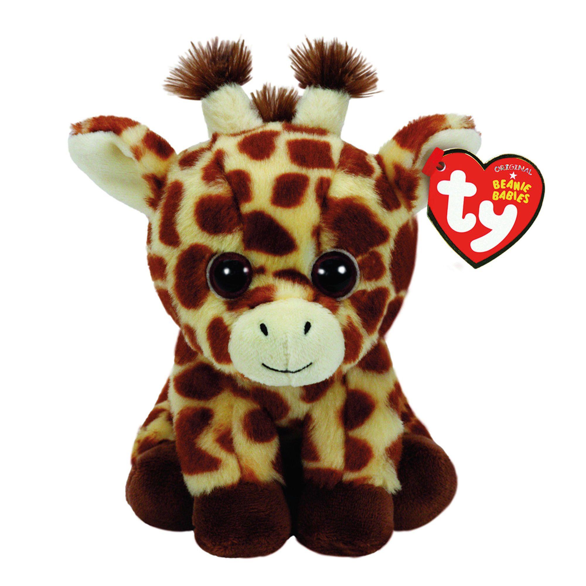 Ty Beanie Baby Small Peaches the Giraffe Plush Toy   Claire's US   Giraffe  plush, Original beanie babies, Giraffe soft toy