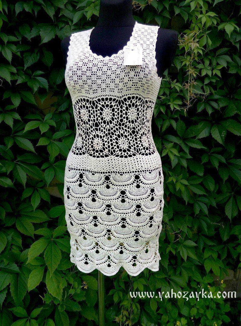 коктейльное платье крючком схемы вечернее платье крючком модели и