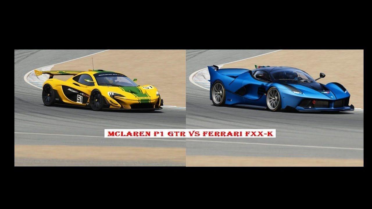 McLaren P1 GTR vs Ferrari FXX-K at Laguna Seca