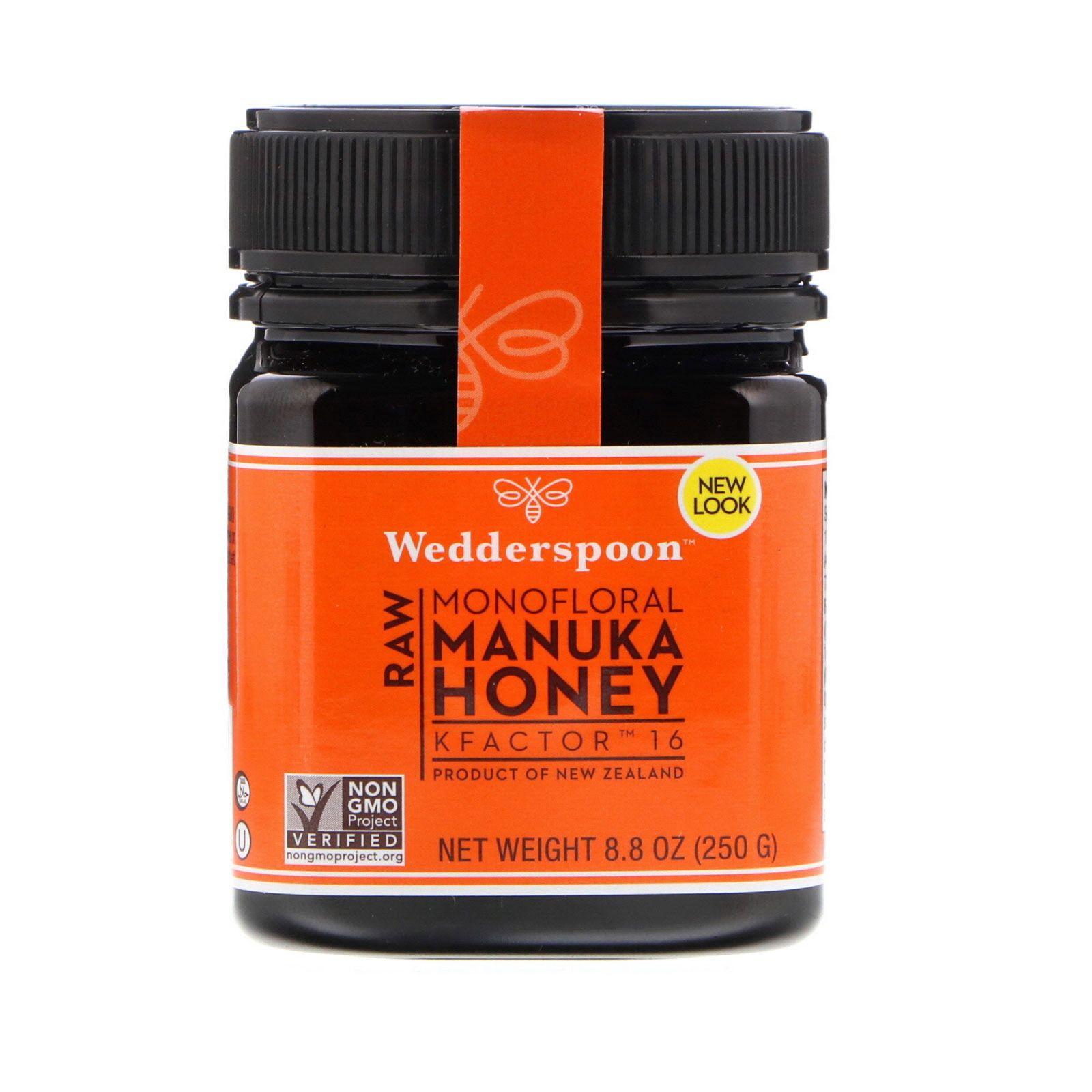 Wedderspoon Raw Monofloral Manuka Honey Kfactor 16 8 8 Oz 250 G Manuka Honey Raw Manuka Honey Organic Raw Honey