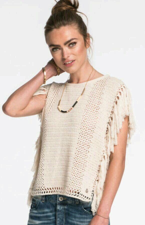 Pin de Aida Villalobos en blusas crochet   Pinterest   Blusas ...