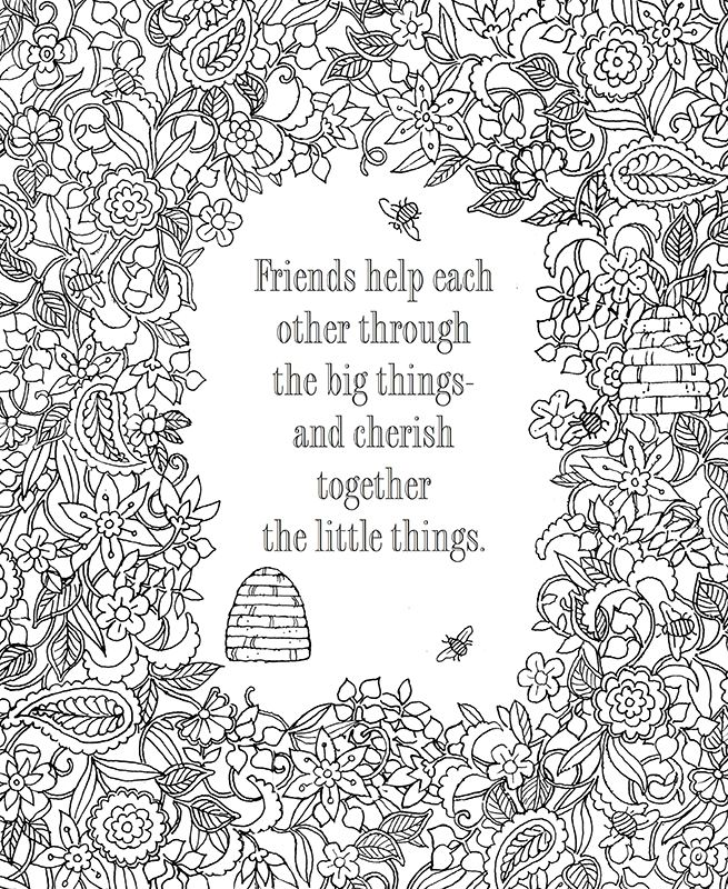The Book of Friendship Coloring Art | Christian coloring ...