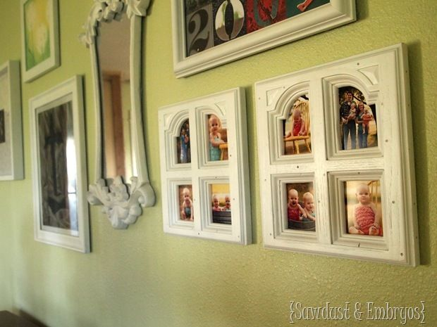 DIY Picture frames from old furniture doors!