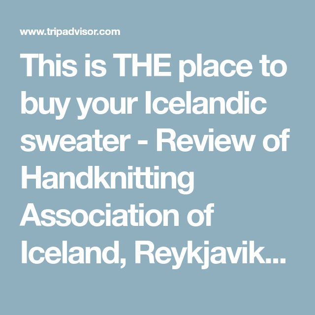 This Is The Place To Buy Your Icelandic Sweater Review Of