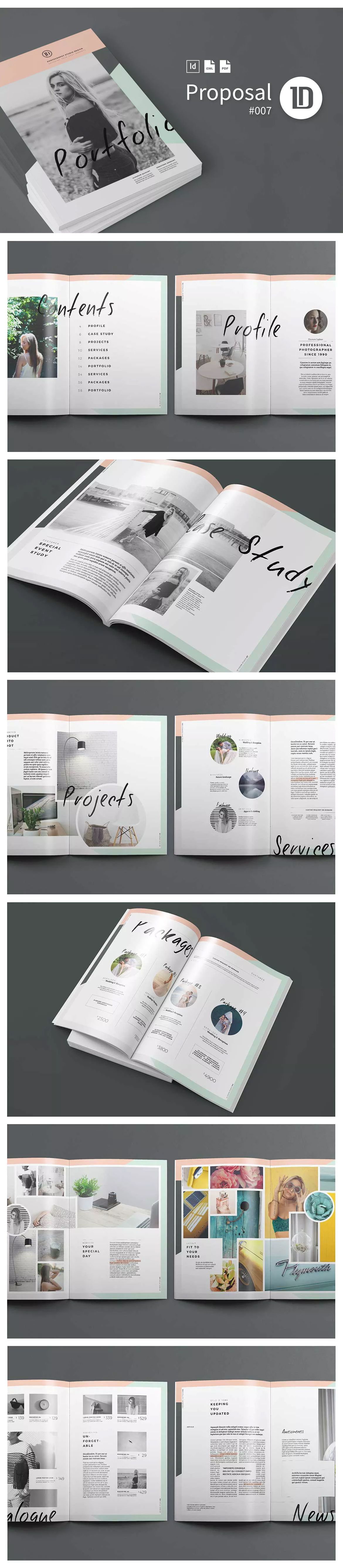 Portfolio Template INDD, EPS - 40 Pages A4 and US Letter Size ...