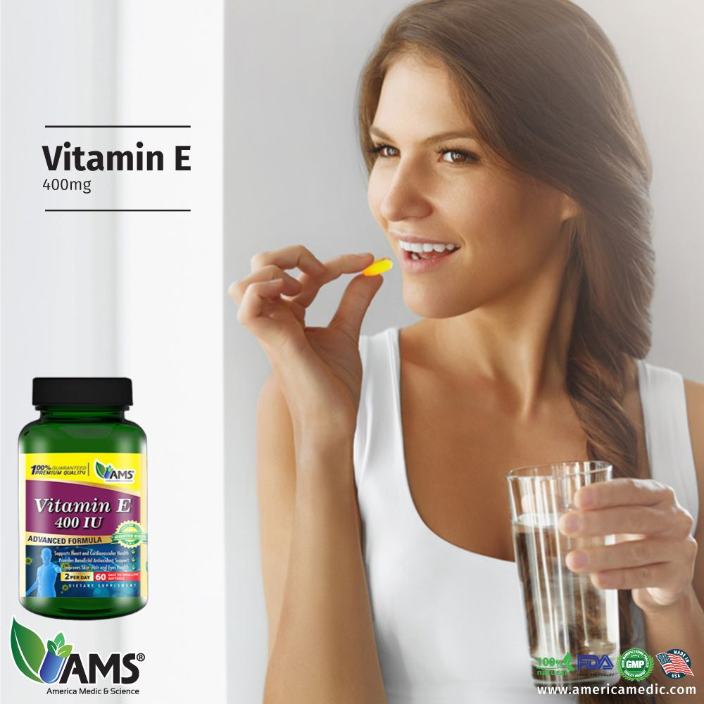 AMS® Vitamin E is a dietary supplement that promotes
