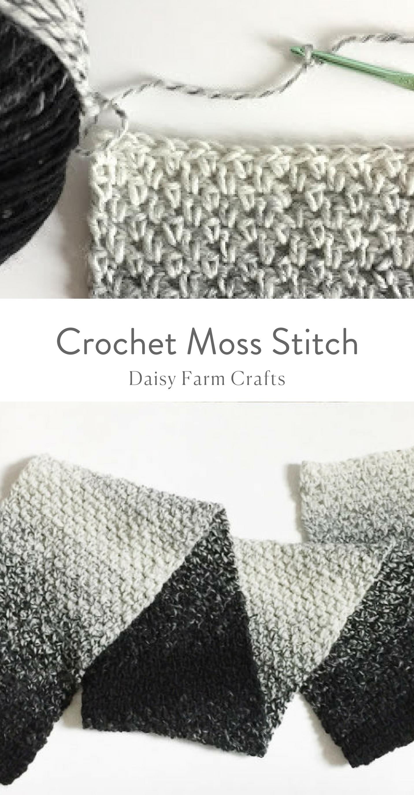 How to Crochet the Moss Stitch | crochet | Pinterest | Ganchillo ...