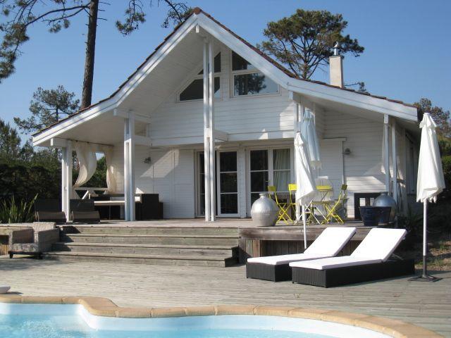 maison bois au cap ferret france dream houses pinterest ferret house and wood houses. Black Bedroom Furniture Sets. Home Design Ideas