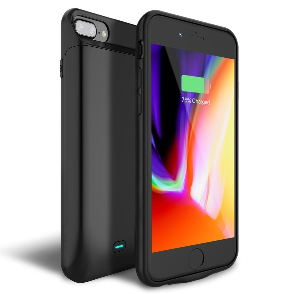 new style 47469 6eb7b iPhone 8 Plus/7 Plus Battery Case, Newdery 7200mAh Rechargeable Ext ...